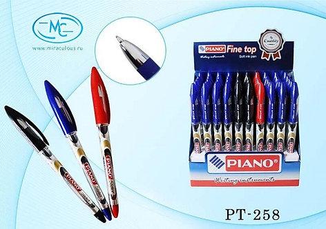 Ручка шариковая ЧЕРНАЯ PIANO PT-258 (50шт/уп)