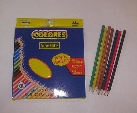 """Карандаши цветные 24цв """"Colores"""" круглый корпус 646-7 в картонной упаковке"""