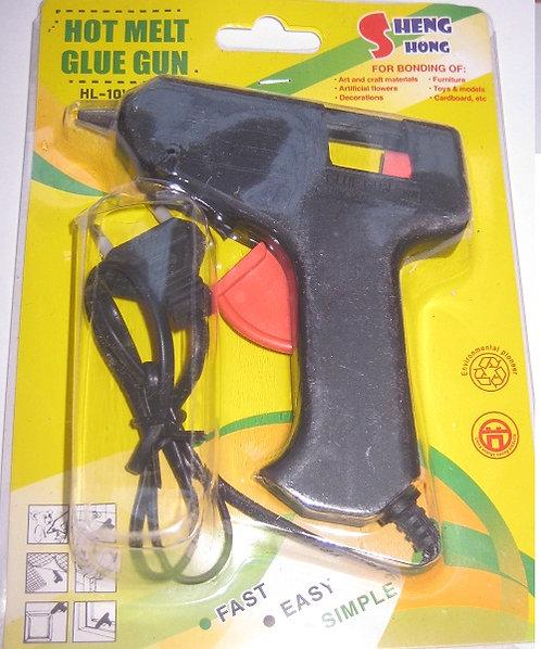 Пистолет клеевой 10W стержень 7мм 5801/YL-F  на планшете