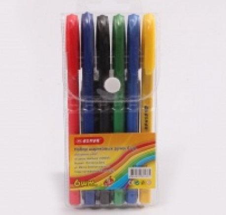 """Набор шариковых ручек 6цв """"Tri-Mate"""" корпус цветной трехгранный ASMAR AR-1194-"""