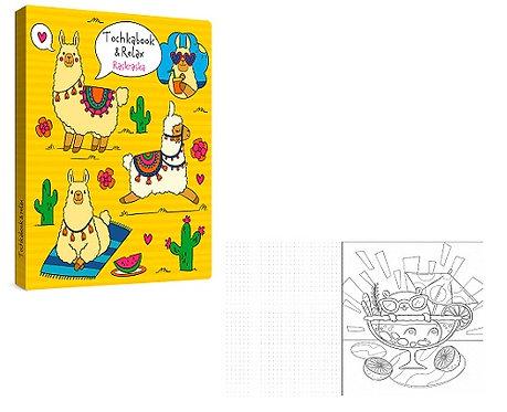 """Блокнот/Точкабук А5(195х161мм) 64л КБС с рисунком """"Ассорти"""" с раскраской ЛИСТЫ В"""