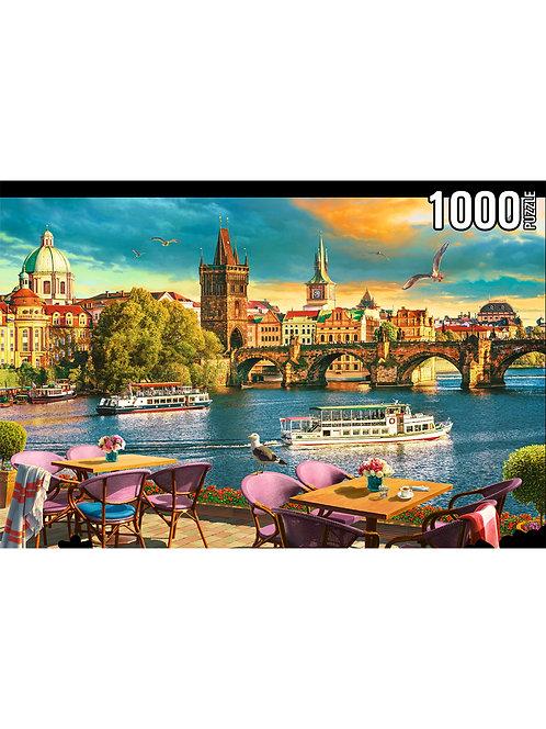 Konigspuzzle. ПАЗЛЫ 1000 элементов. ФК1000-8070 ВЕЧЕРНЯЯ ПРАГА