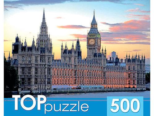 TOPpuzzle. ПАЗЛЫ 500 элементов. КБТП500-6805 Лондон. Вестминстерский дворец