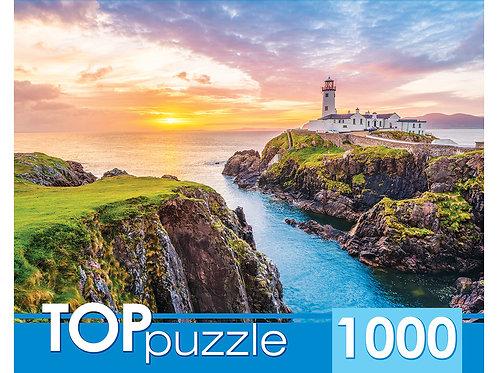 TOPpuzzle. ПАЗЛЫ 1000 элементов. ГИТП1000-2148 Ирландия. Маяк на мысе Фанад