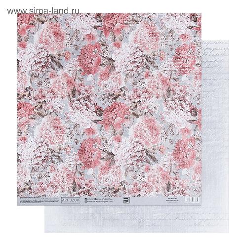 Бумага для скрапбукинга «Винтажные розы», 30.5 × 32 см, 180 гм 4505787