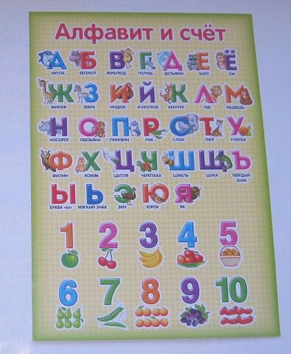 """Плакат детский А4 """"Алфавит и счет"""" ШКОЛА ТАЛАНТОВ 2254052"""