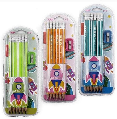 """Набор карандашей простых 12шт с ластиком """"Fluo"""" с точилкой 18918/1106 на планшет"""