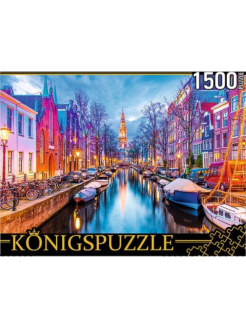 Konigspuzzle. ПАЗЛЫ 1500 элементов. ГИK1500-0671 АМСТЕРДАМ. ВИД НА ЗЮЙДЕРКЕРК