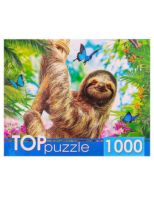 TOPpuzzle. ПАЗЛЫ 1000 элементов. ГИТП1000-4304 Ленивец на ветке
