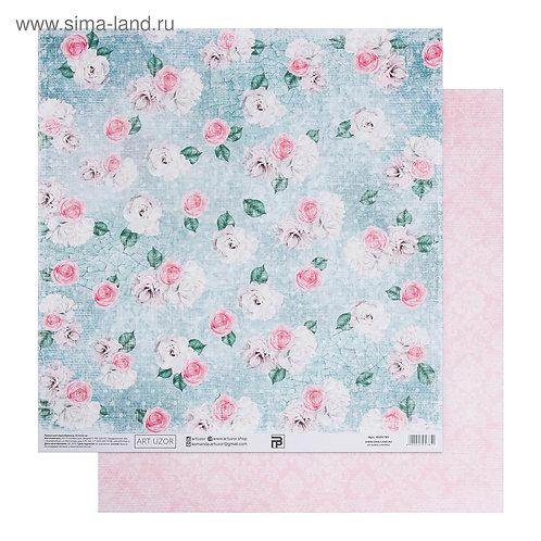 Бумага для скрапбукинга «Мятный шебби», 30.5 × 32 см, 180 гм 4505785