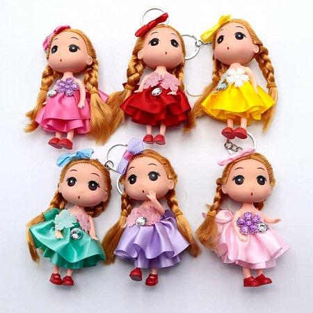 """Брелок для девочек """"Куколка"""" 110мм CL-01404 (12шт/уп)"""