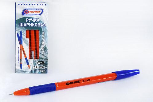 """Ручка шариковая """"Корвина"""" с резинкой корпус оранжевый СИНЯЯ ASMAR AR-2244 (50шт"""