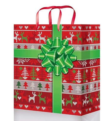 "Пакет подарочный 145х115х60мм (S) глянец ""Новый Год"" малый для подарков OP"