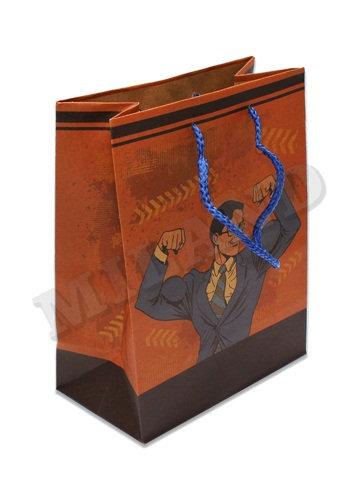 "Пакет подарочный 180х160х70мм (S) крафт ""Ассорти"" MILAND ПКП/ПП/П00 (12шт/уп)"