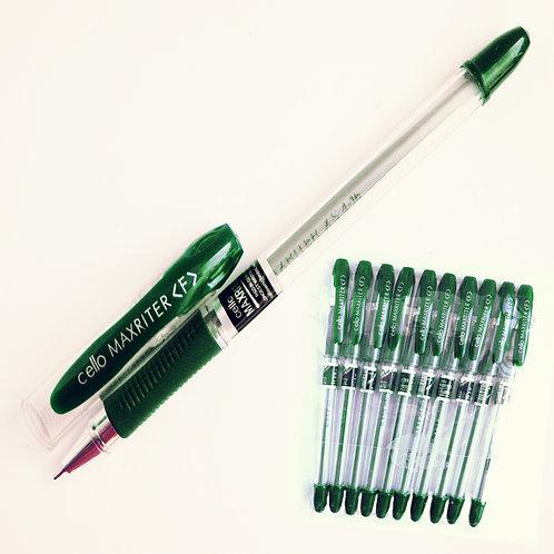 """Ручка шариковая масляная """"Maxriter"""" зеленая CELLO"""