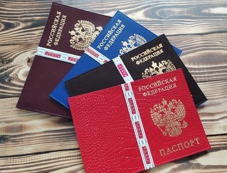 Обложка для паспорта НАТУРАЛЬНАЯ КОЖА гладкая кожа+визитница BAREZ 2522