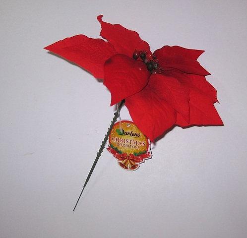 """Декор новогодний """"Красный цветок"""" 240мм DARLENS DL-DRL01066 в кульке"""