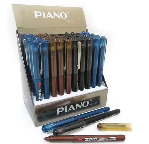 """Ручка шариковая """"Fine Zing"""" корпус цветной СИНЯЯ PIANO PT-225 (50шт/уп)"""