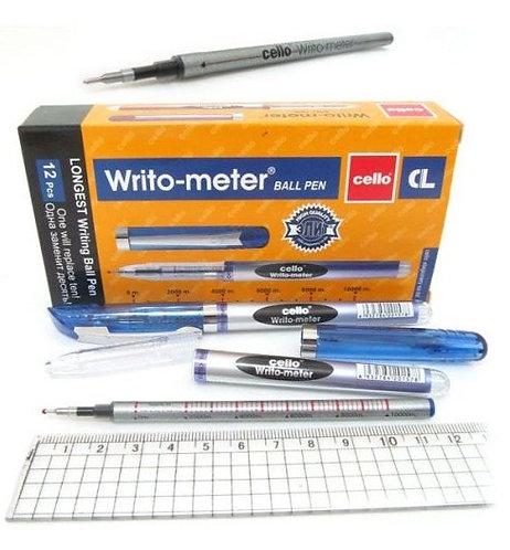 "Ручка шариковая ""Writo-meter"" 0,5мм 10км СИНЯЯ CELLO CL-8048/743 (12шт/уп)"