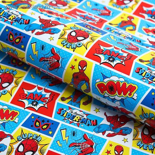 Бумага упаковочная 50х70 см, Человек-паук 4504295