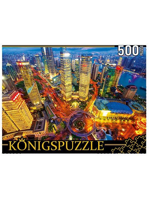 Konigspuzzle. ПАЗЛЫ 500 элементов. ШТK500-3581 КИТАЙ. ШАНХАЙСКИЕ НЕБОСКРЁБЫ