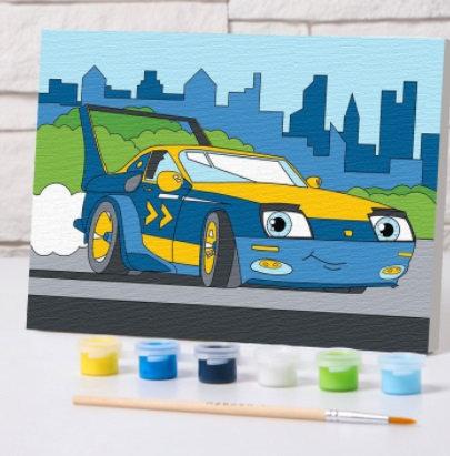 Картина по номерам «Спорткар» 21×15 см