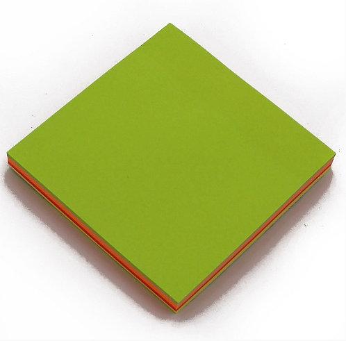 Куб-блок для записей КЛЕЕВОЙ 76х76мм 100л 5цв неон MAYLOTT 10661 (12шт/уп)