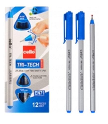 "Ручка шариковая ""Triball/Tri-tech"" корпус трехгранный СИНЯЯ CELLO CL-1003 (12шт/"