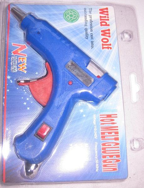 Пистолет клеевой 20W стержень 7мм с терморегулятором 5676  на планшете