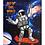Thumbnail: Блокнот А5 40л. ВЕСЕЛЬЕ В КОСМОСЕ (Б40-0208) ассорти, на гребне, цвет.мелов.обл,