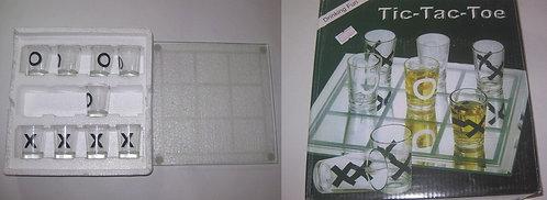 """Настольная игра """"Кростики-нолики алко"""" рюмки стекло РР-НИ-03165 в коробке"""