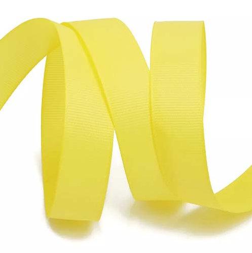 Лента упаковочная репсовая Классика,25 мм х 22 м,желтый БЛ-5639