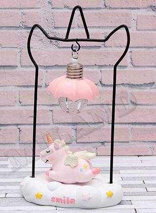 Ночник Единорожек в облаках, 10х20 см, розовый УД-9090