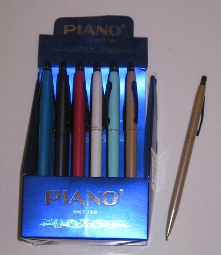 Ручка автомат цветной корпус СИНЯЯ PIANO PS-008 (24шт/уп)
