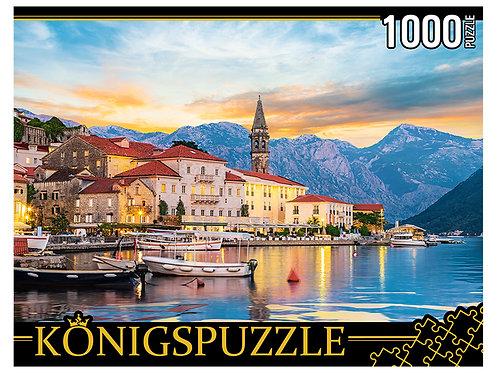 Konigspuzzle. ПАЗЛЫ 1000 элементов. ГИK1000-0634 ЧЕРНОГОРИЯ. ГОРОД ПЕРАСТ