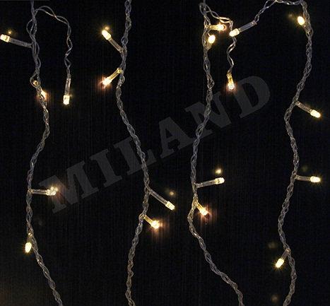 Гирлянда-штора электрическая 1,8х1,8м 144лампочек 8режимов белый провод MILAND Н