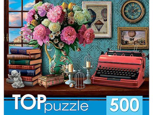 TOPpuzzle. ПАЗЛЫ 500 элементов. ХТП500-6828 Натюрморт с печатной машинкой