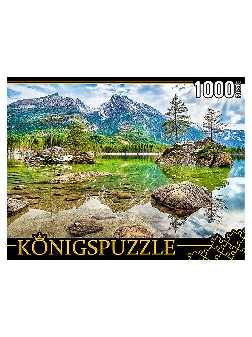 Konigspuzzle. ПАЗЛЫ 1000 элементов. ГИK1000-0640 ГЕРМАНИЯ. ОЗЕРО ХИНТЕРЗЕЕ