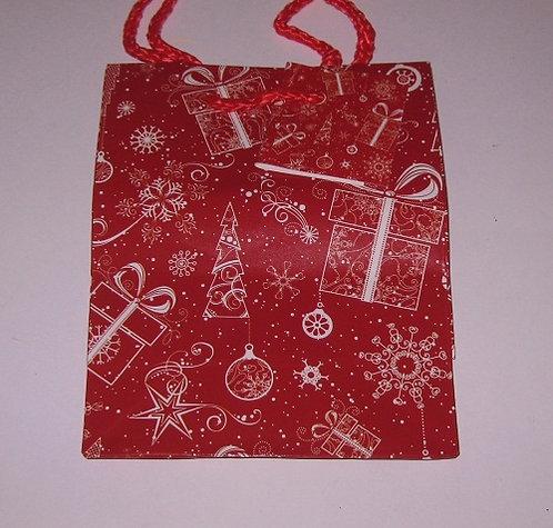 "Пакет подарочный 145х115х60мм (S) глянец ""Новый Год"" малый для подарков"