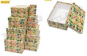 """Набор коробок подарочных 10шт """"Ассорти"""" прямоугольные 300х200мм-120х65мм MILAND"""