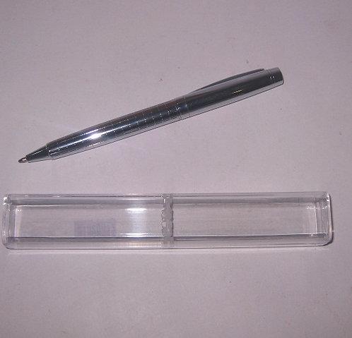 Ручка ПОДАРОЧНАЯ поворотная корпус серебро вставки серебро СИНЯЯ 1864 в футляре