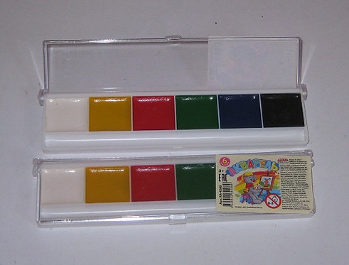 Краски акварельные 6цв PROF-PRESS КА-4586 в пластиковой упаковке (54шт/уп)