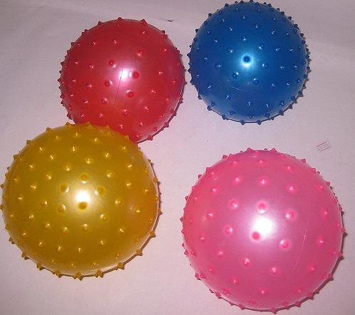 Мяч детский резина 160мм с шипами 1531-17