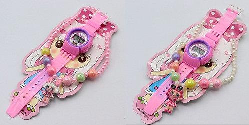 """Набор для девочек цепочка+часы """"Lol"""" KA-1723 на планшете"""