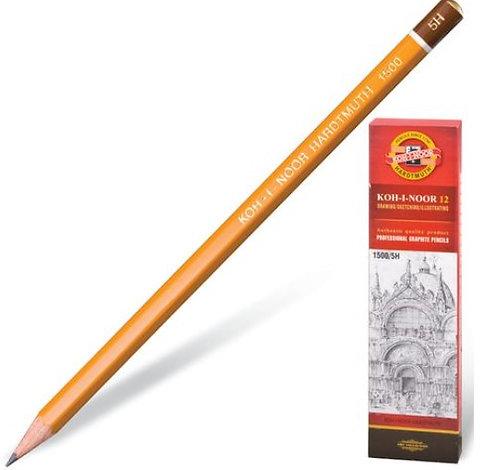 Карандаш простой без ластика 5H корпус шестигранный KOH-I-NOOR 1500/5H (12шт/уп)