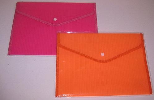 Папка-конверт на кнопке ТКАНЬ А4 350мкм однотонная цветная S361