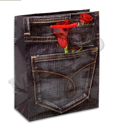 "Пакет подарочный 145х115х60мм (S) глянец ""Ассорти"" малый для подарков MILAND/РЫЖ"
