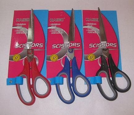 Ножницы офисные 230мм ручки прорезиненные KAIBO 647015 на планшете