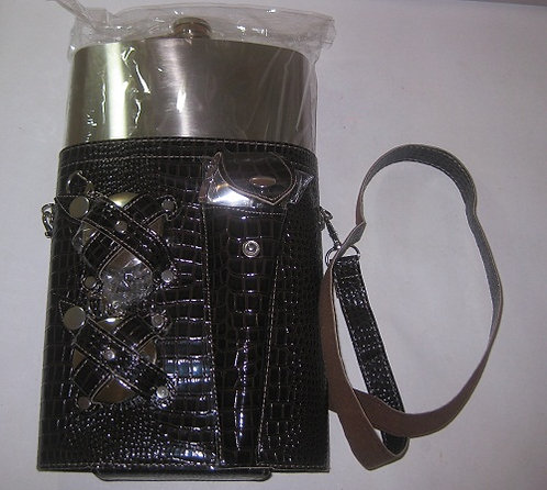 Набор подарочный мужской фляга 48OZ(1440мл)+2стаканчика+вилка+ложка ХСН 02859 в