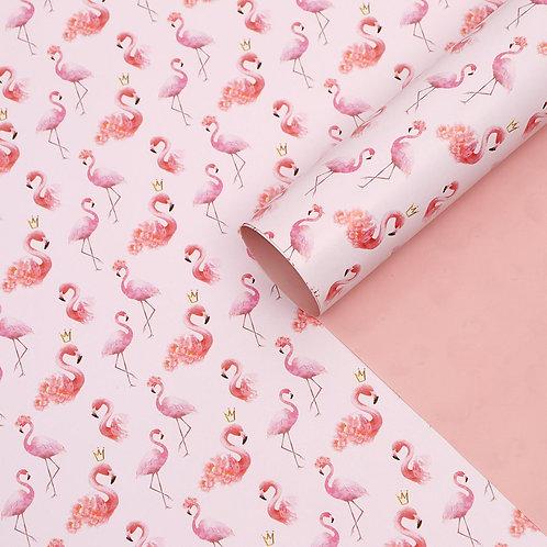 """Бумага глянцевая, двухсторонняя """"Фламинго"""", 50 х 70 см"""